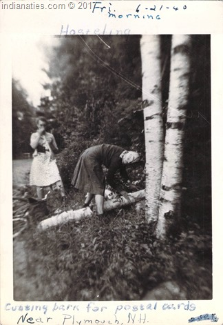 RW Photo Album, Cutting bark for postal cards, 21 June 1940