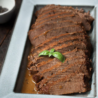 Slow Cooker Maple Brisket.