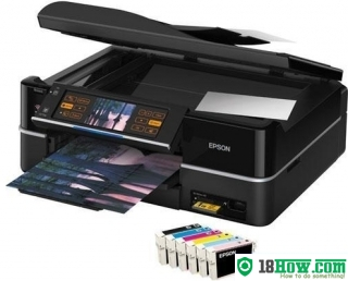 How to Reset Epson TX800FW flashing lights problem