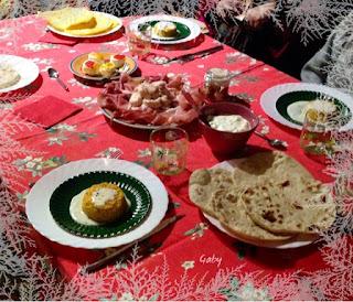 Afternoon Christmas tea time