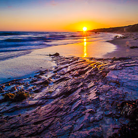 Crystal Cove Sunset by Scott Turnmeyer - Landscapes Waterscapes ( ca, california, sunset, cove, ocean, beach, crystal, long, rocks )