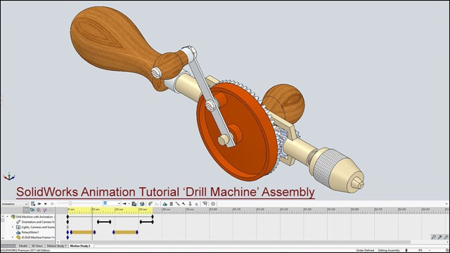 SolidWorks Animation Tutorial 'Drill Machine' Assembly_2