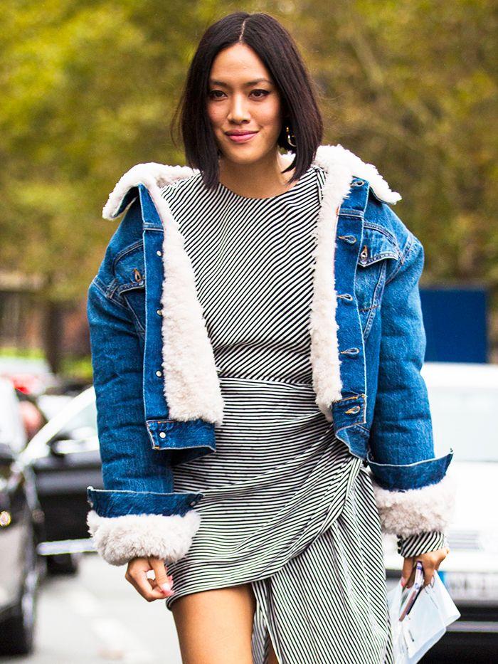 Sherpa jacket and skirt