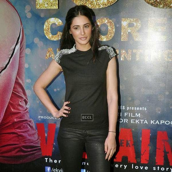 Nargis Fakhri during the success party of Bollywood movie 'Ek Villain', held at Ekta Kapoor's residence on July 15, 2014.(Pic: Viral Bhayani)