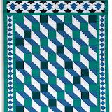 LES PORTES DE L'ORIENT - Brigitte Rogeon - Piécé machine et quilté main - Reproduction d'une mosaïque de la Salle des Arabes - Palais National de Sintra - Portugal