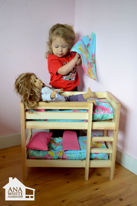18 Doll Triple Bunk Bed Plans Woodworktips