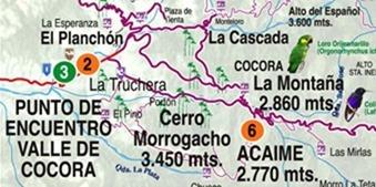 mapa del valle de Cocora