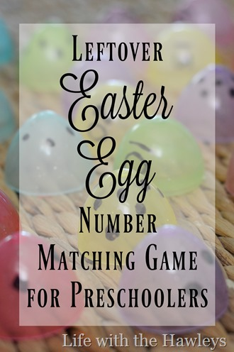 East Egg Number Matching Game- Life with the Hawleys