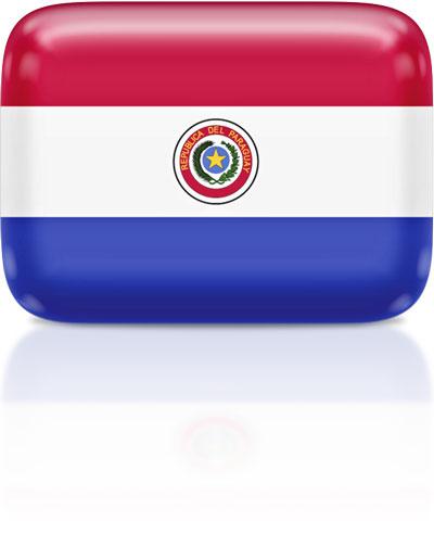 Paraguayan flag clipart rectangular