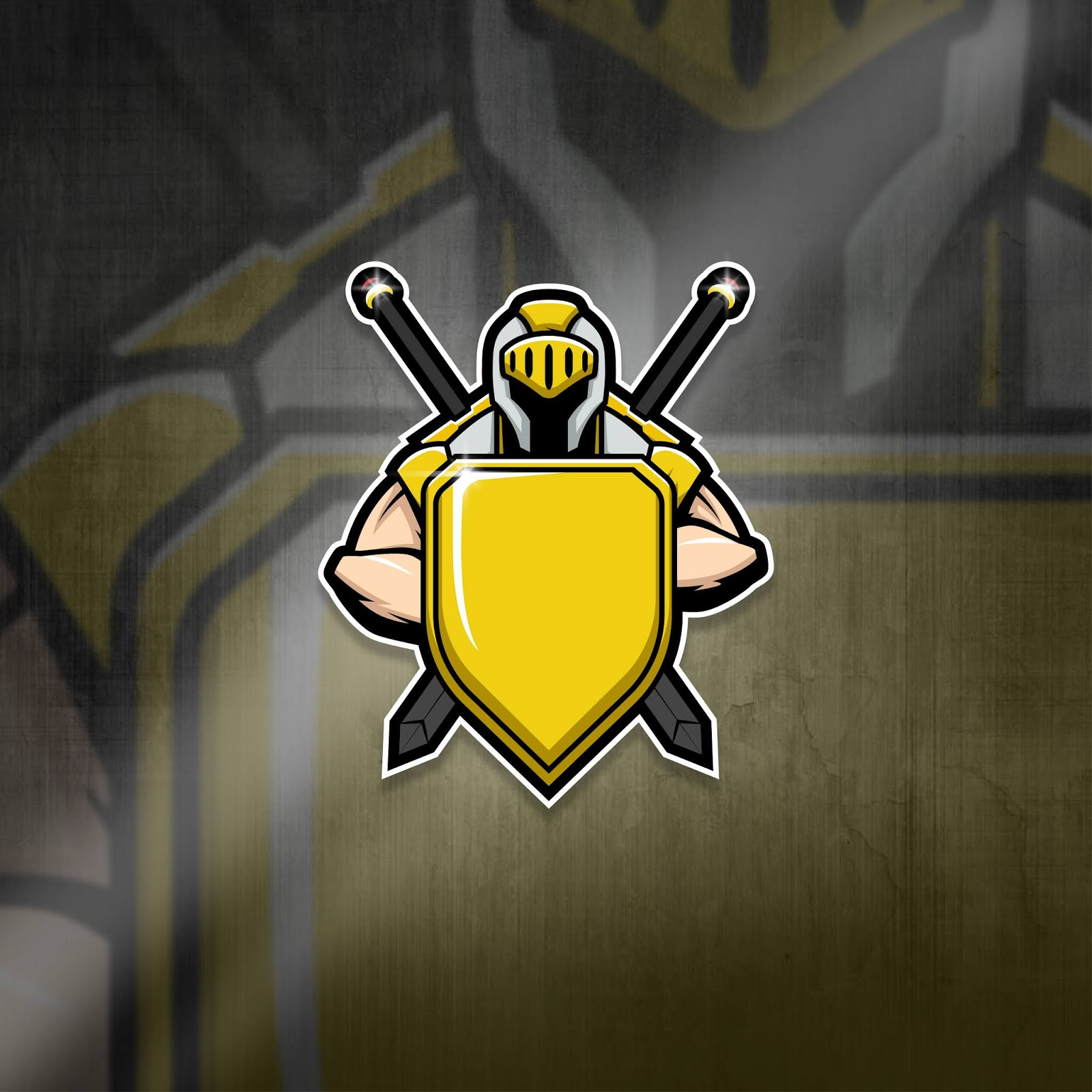 Esports Mascot Logo Team Knight Free Download Vector CDR, AI, EPS and PNG Formats