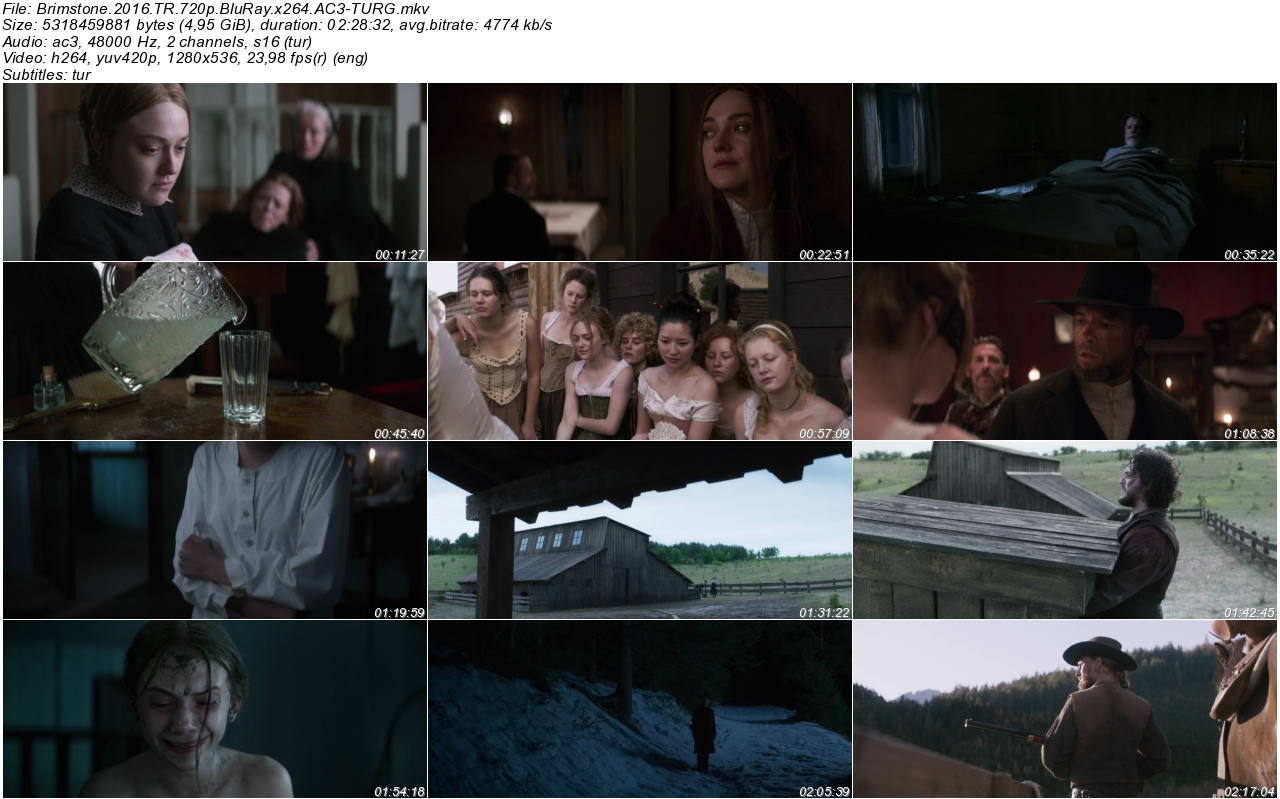 Brimstone 2016 - 1080p 720p 480p - Türkçe Dublaj Tek Link indir