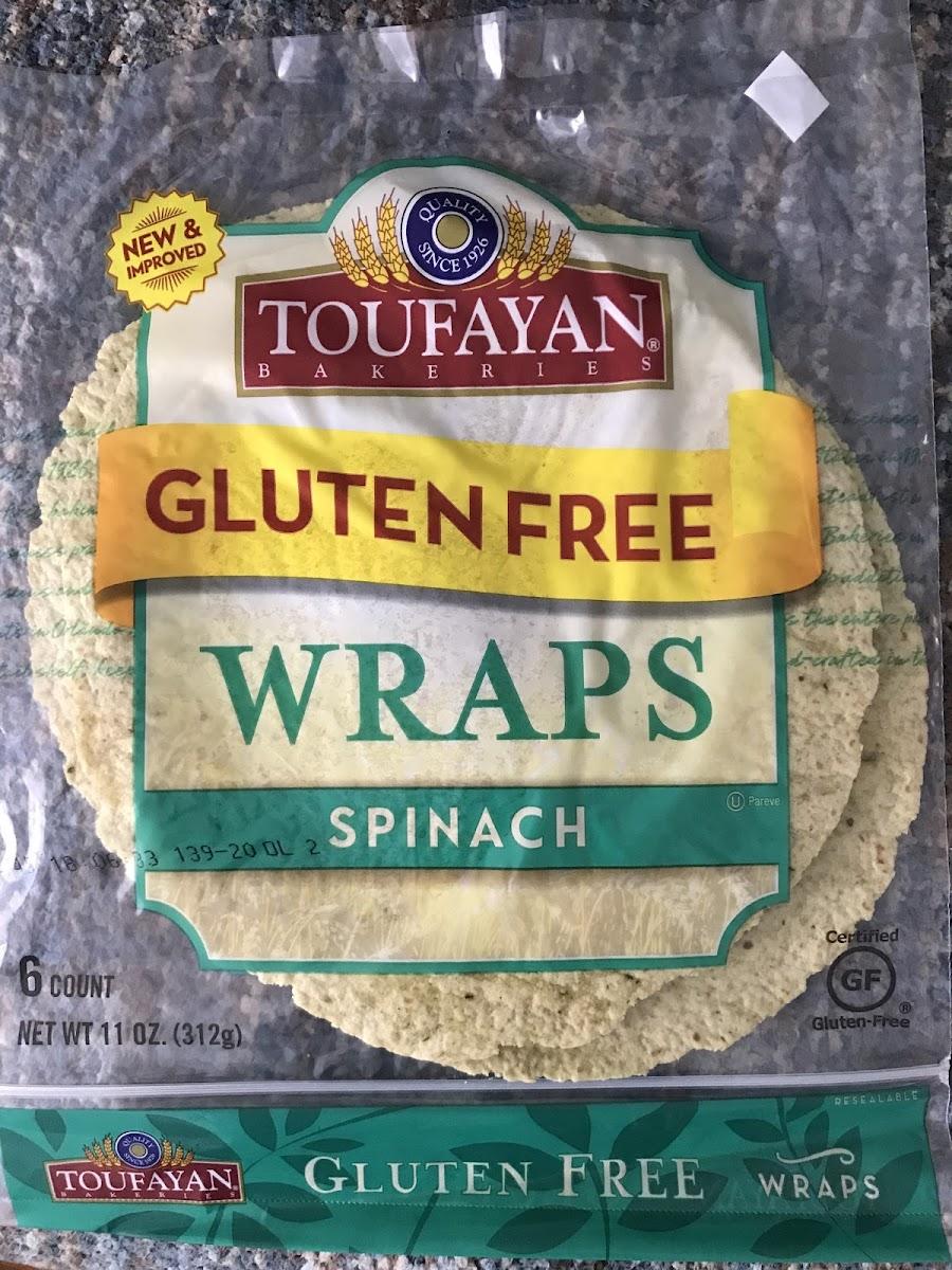Gluten Free Spinach Wraps