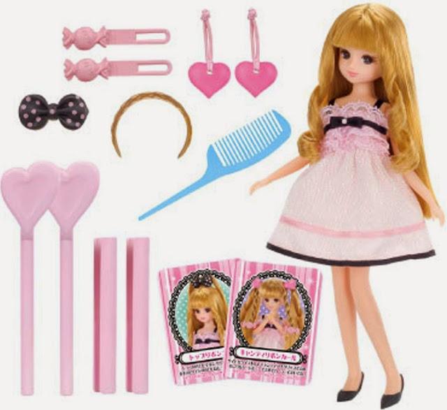 Bộ uốn tóc cho búp bê Beauty Curl Licca và các dụng cụ uốn tóc cho búp bê