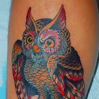 shane b non stop art tattoo - Owl Tattoo