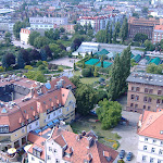 Another view from the top of a Wroclaw church tower