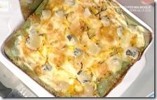 Lasagne di crespelle verdi con zucca e toma
