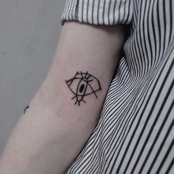 o_olhar_contemporneo_esboço_braço_de_tatuagem