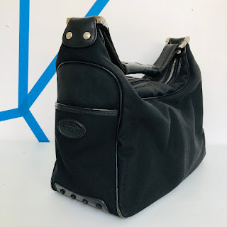 Tod's Black Nylon Shoulder Bag