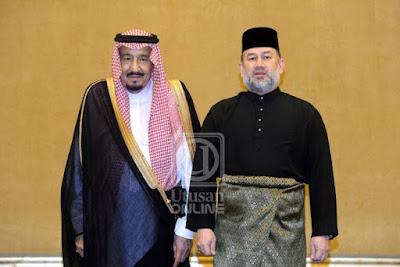 Agong gesa KL, Riyadh bekerjasama tangani cabaran dihadapi umat Islam