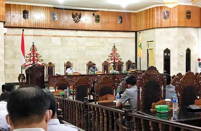 Dewan Kapuas Gelar Paripurna Penyampaian Pembentukan Raperda