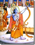 [Shri Rama breaking bow]