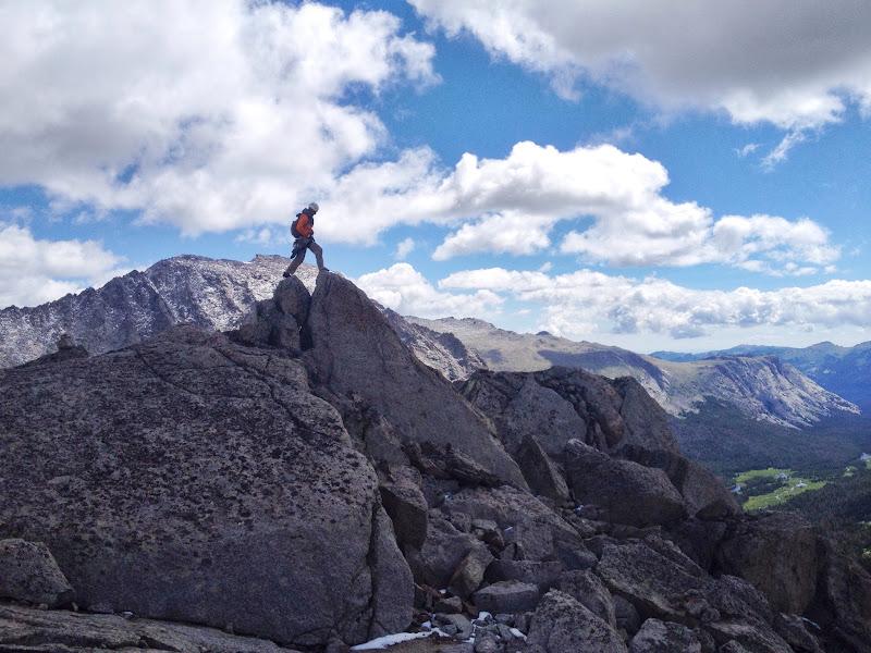Scrambling around at the peak of Pingora.