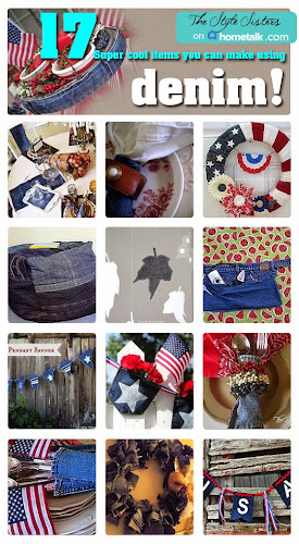All things denim, denim crafts, denim tablescape, denim on hometalk