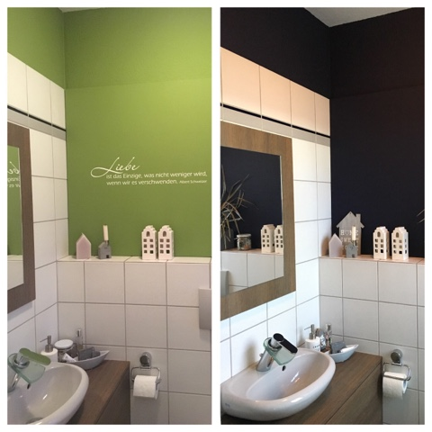 unser kleiner mikrokosmos g ste wc makeover die dunkle seite in unserem haus. Black Bedroom Furniture Sets. Home Design Ideas