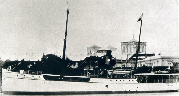 Detalle del mismo vapor, seguramente de una fecha bastante anterior. La Compañia General de Tabacos de Filipinas. 1881-1981.jpg