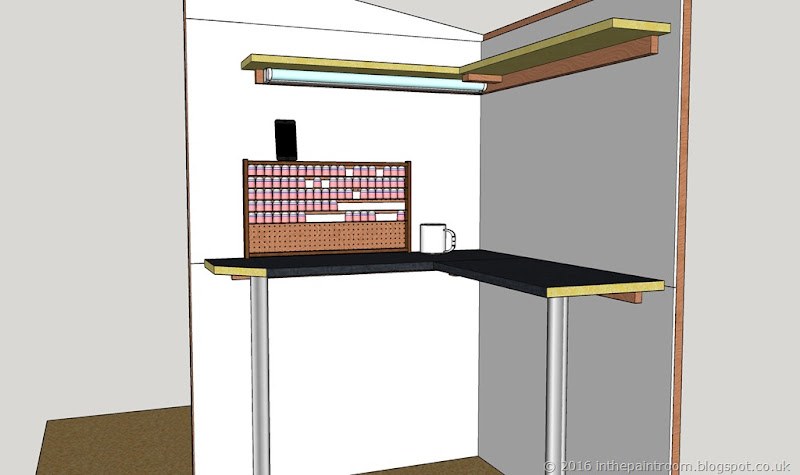 The Paint Room Sketchup Model V2 lighting closeup