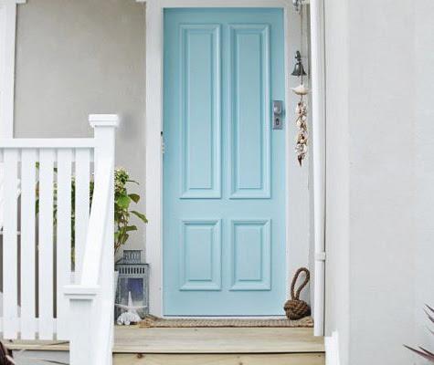 Porta colorida azul celeste