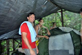 Photo: la tenda della prima notte