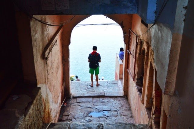 Varanasi Ganges Man Food Street Photography
