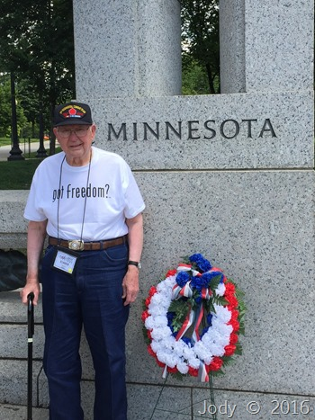 Dad at the WW2 Memorial