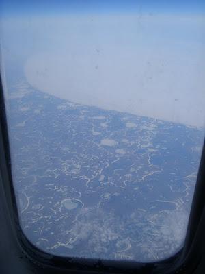 シベリア上空の風景