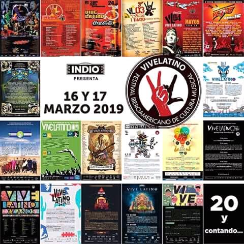 FECHAS DEL VIVE LATINO 2019