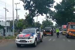 Polres Lumajang Laksanakan  Pamwal Datanganya Vaksin Covid-19 Tahap I (termin 2) di Wilayah Kabupaten Lumajang
