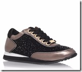Carvela glitter and metallic lace-up trainers