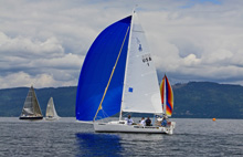 J/80s sailing Puget Sound off Seattle, Washington