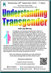 Understanding Transgender 28 September 2016