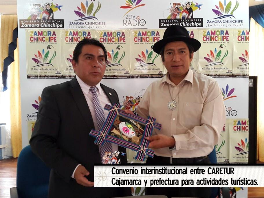 CONVENIO INTERINSTITUCIONAL ENTRE CARETUR CAJAMARCA Y PREFECTURA PARA ACTIVIDADES TURÍSTICAS.