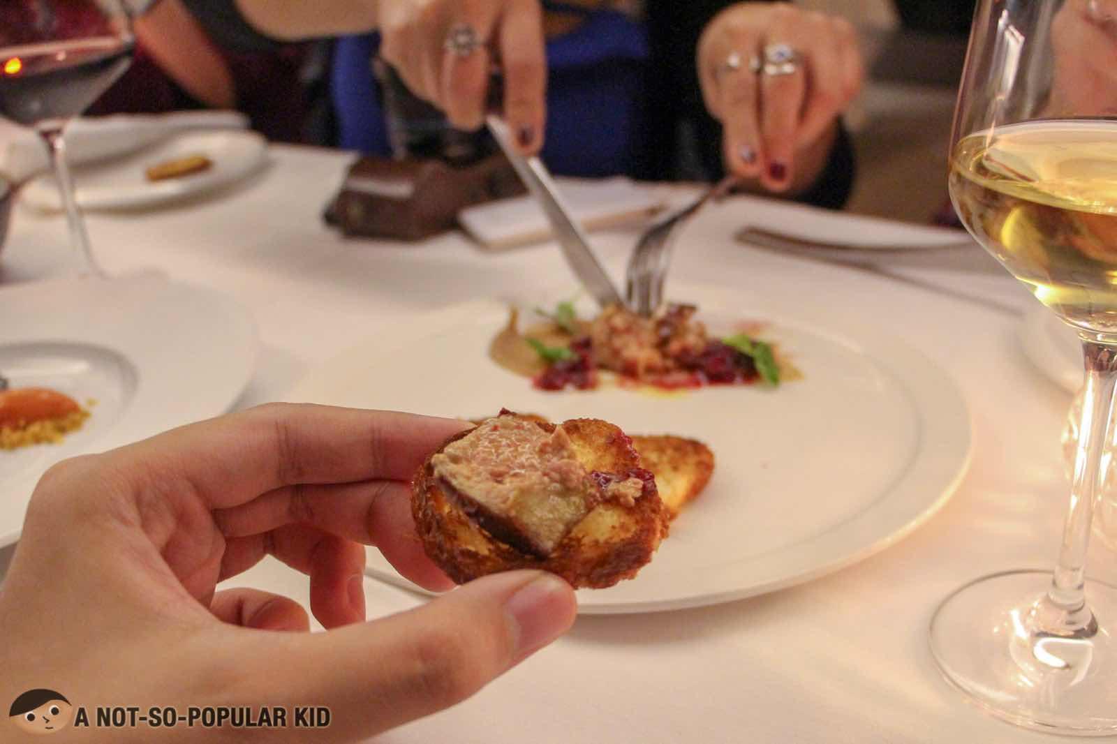 Foie Gras in FOO'D by Davide Oldani