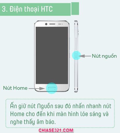 Cách chụp ảnh màn hình điện thoại htc