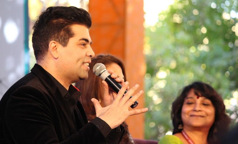 karan johar in different mood at jaipur literature festival