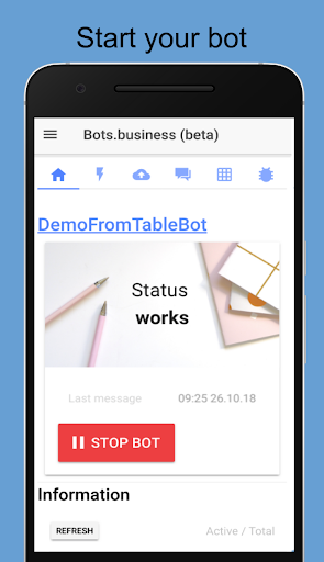 Bots.Business u2013 create your own bot 0.7.5 screenshots 1