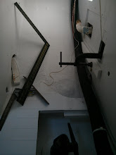 Photo: istalling cleats for hot water heater shelf