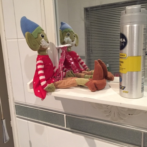 elf on the shelf shaving