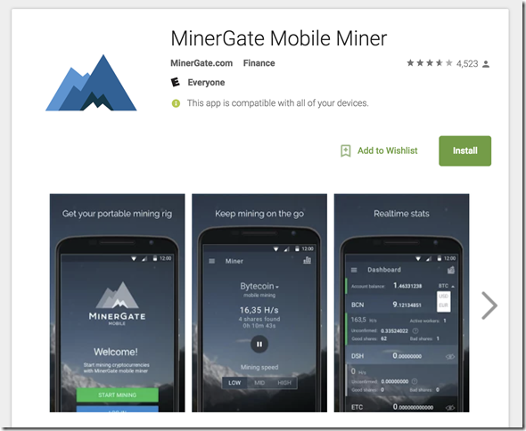 mobile-mining-Minergate