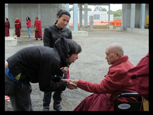 Gomo Tulku and Osel meet Lama Zopa Rinpoche in Australia May 2011