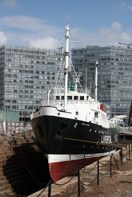 Ship in Albert Dock in Liverpool England